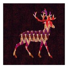 """Ikat Deer"" by Budi Satria Kwan Painting Print on Canvas"