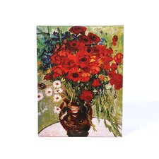 """Daisies & Poppies"" by Vincent van Gogh Painting Print on Canvas"