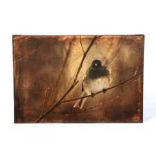 'Backlit Birdie Being Buffeted' Canvas Art