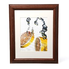 "<strong>Trademark Fine Art</strong> ""Lemon Splash II"" Framed Matted Art"