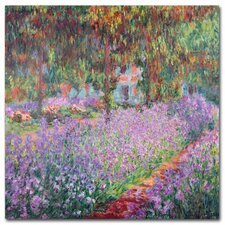 """The Artist's Garden at Giverny"" by Claude Monet Painting Print on Canvas"