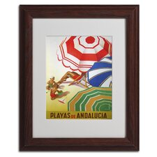 Vintage Apple 'Beaches of Andalucia' Framed Art