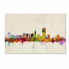 """San Francisco, California"" by Michael Tompsett Painting Print on Wrapped Canvas"