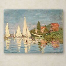 """Regatta at Argenteuil"" by Claude Monet Painting Print on Canvas"