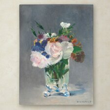 """""""Flowers In a Crystal Vase 1882"""" by Edouard Manet Painting Print on Wrapped Canvas"""