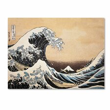'The Great Wave off Kanagawa' by Katsushika Hokusai Painting Print on Canvas