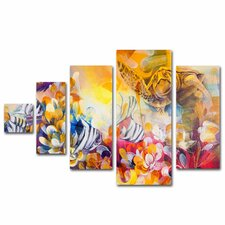 """Key Largo"" by Palacios Painting Print 5 Panel Art Set"