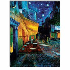 'Cafe Terrace' by Vincent van Gogh Painting Print on Canvas