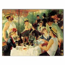 'Luncheon of the Boating Party' by Pierre Renoir Painting Print on Canvas