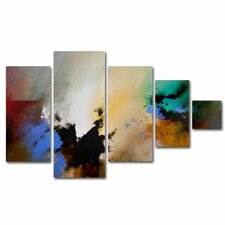 Clouds Connected II by Cody Hooper Painting Print 5 Panel Art Set