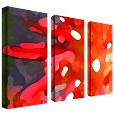 """Red Sun"" by Amy Vangsgard Painting Print 3 Panel Art Set"