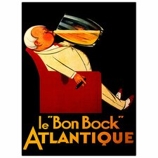 "<strong>Trademark Fine Art</strong> Le Bon Bock ,Traditional Framed Canvas Art - 32"" x 24"""