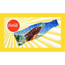Sun & Rain Coke Bottle Stretched Canvas Print  - 18x32 Inch