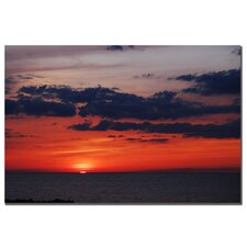 "<strong>Trademark Fine Art</strong> Great Lake Sunset Landscape by Kurt Shaffer, Canvas Art - 16"" x 24"""