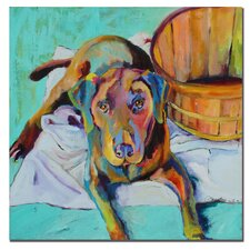 "<strong>Trademark Fine Art</strong> Basket Retriver by Pat Saunders-White, Canvas Art - 24"" x 24"""