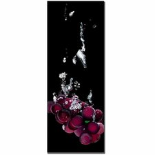 "Grapes Splash by Roderick Stevens, Canvas Art - 32"" x 12"""