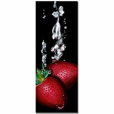 "<strong>Trademark Fine Art</strong> Strawberry Splash by Roderick Stevens, Canvas Art - 32"" x 12"""