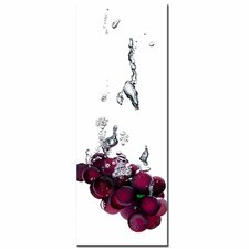 "Grapes Splash II by Roderick Stevens, Canvas Art - 32"" x 12"""