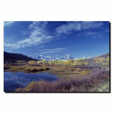 "<strong>Trademark Fine Art</strong> Teton Aspen Lake by Kurt Shaffer, Canvas Art - 24"" x 32"""