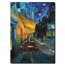 "Cafe Terrace by Vincent Van Gogh, Canvas Art - 19"" x 14"""