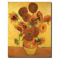"Vase with Sunflowers by Vincent Van Gogh, Canvas Art - 19"" x 14"""