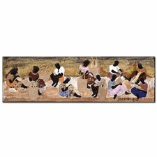 "Basket Weavers by Garner Lewis, Canvas Art - 14"" x 47"""