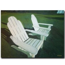 "<strong>Trademark Fine Art</strong> Lawn Chairs by Rickey Lewis, Canvas Art - 18"" x 24"""