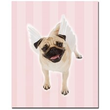 "Pug Angel by Gifty Idea Greeting Cards And Such, Canvas Art - 32"" x 26"""