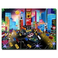"<strong>Trademark Fine Art</strong> Times Square by Herbert Hofer, Canvas Art - 35"" x 47"""