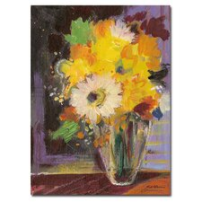 <strong>Trademark Fine Art</strong> Glass Vase by Sheila Golden Canvas Art