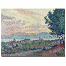 """St. Tropez, Pinewood, 1896"" by Paul Signac Painting Print on Canvas"