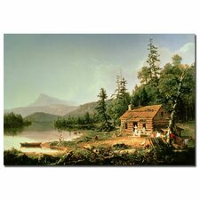 "<strong>Trademark Fine Art</strong> ""Home in the Woods, 1847"" Canvas Art"