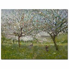 """Apple Tree in Flower"" Canvas Art"