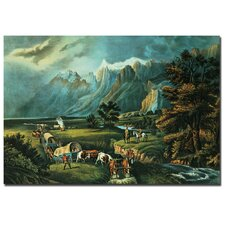"<strong>Trademark Fine Art</strong> ""Emigrants Crossing the Plains"" Canvas Art"