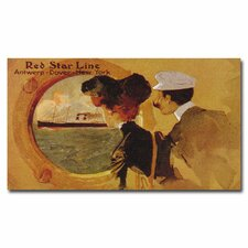 "<strong>Trademark Fine Art</strong> ""Red Star Line"" Canvas Art"