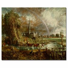 "<strong>Trademark Fine Art</strong> ""Salisbury Cathedral from the Meadows"" Canvas Art"