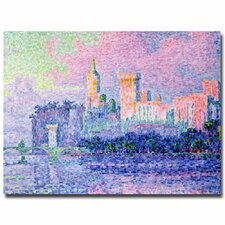 """Chateau de Papes Avignon, 1900"" by Paul Signac Painting Print on Canvas"