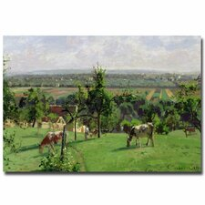 """""""Hillside of Vesinet, 1871"""" by Camille Pissarro Painting Print on Canvas"""