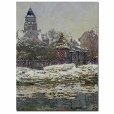 """""""The Church at Vetheuil, 1879"""" by Claude Monet Painting Print on Canvas"""