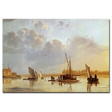 "<strong>Trademark Fine Art</strong> ""Boats on a River, C.1658"" Canvas Art"