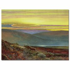 """A Lake Landscape at Sunset"" Canvas Art"