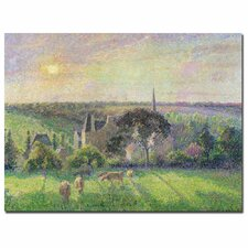 """""""The Church and Farm of Eragny, 1895"""" by Camille Pissarro Painting Print on Canvas"""