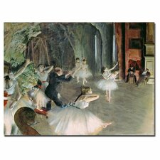 """The Rehearsal of the Ballet on Stage"" Canvas Art"