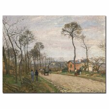 """""""The Road from Louveciennes, 1870"""" by Camille Pissarro Painting Print on Canvas"""