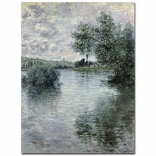 """""""Seine at Vetheuil, 1879"""" by Claude Monet Painting Print on Canvas"""