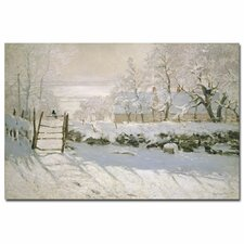 """""""The Magpie, 1869"""" by Claude Monet Painting Print on Canvas"""