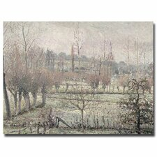 """""""Snow Effect at Eragny, 1894"""" by Camille Pissarro Painting Print on Canvas"""