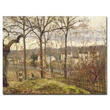"""""""Winter Landscape at Louveciennes, 1873"""" by Camille Pissarro Painting Print on Canvas"""