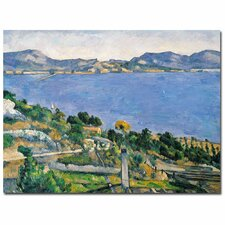 """The Little Bridge, 1879"" by Paul Cezanne Painting Print on Canvas"