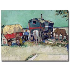 "<strong>Trademark Fine Art</strong> ""Gypsy Encampment Arles, 1888"" Canvas Art"
